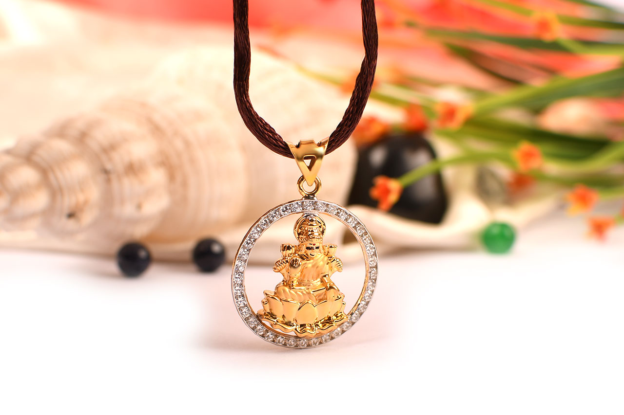 Lakshmi Locket - in Pure Gold - Design I