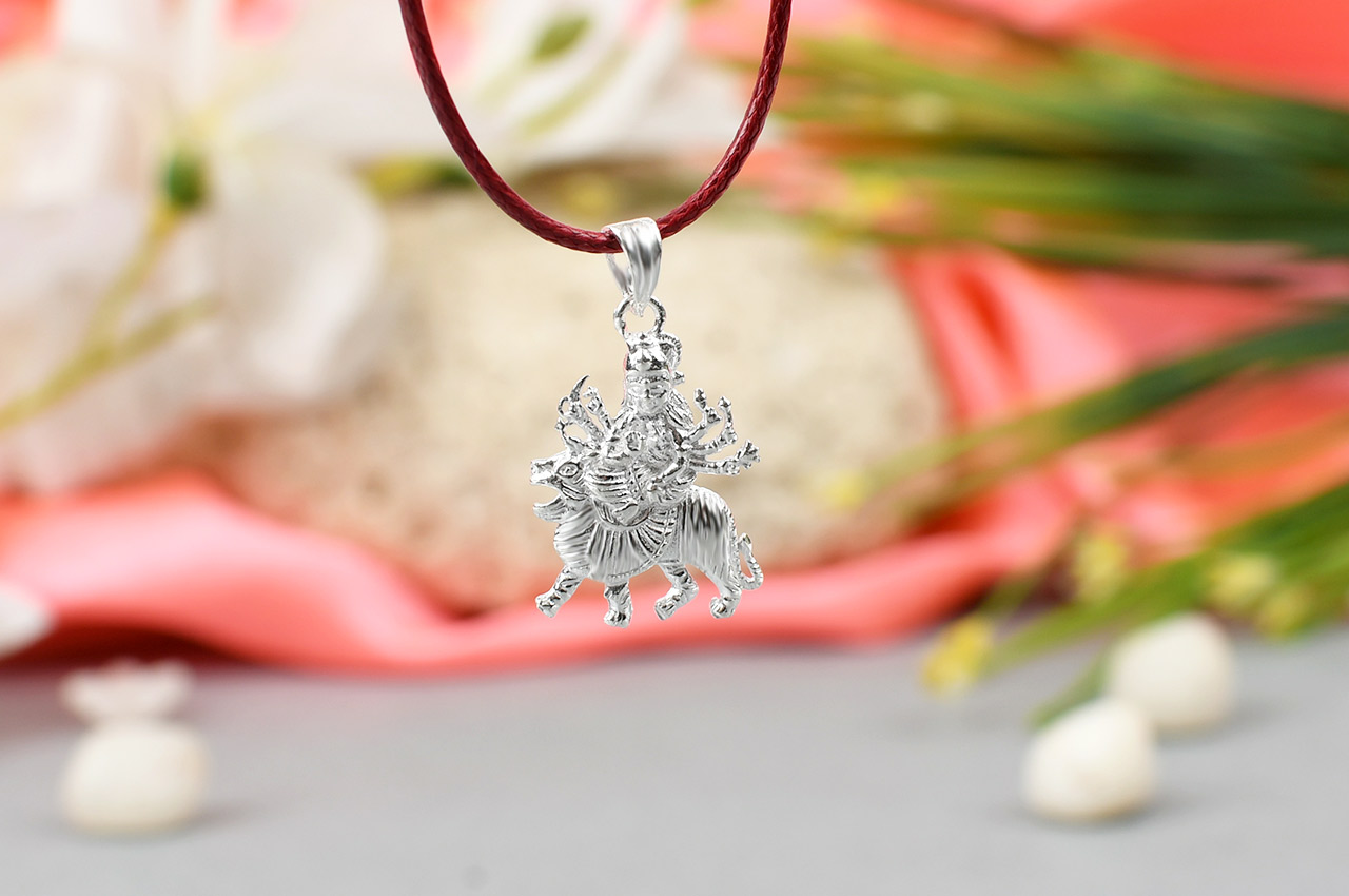 Durga Locket in Pure Silver - Design X