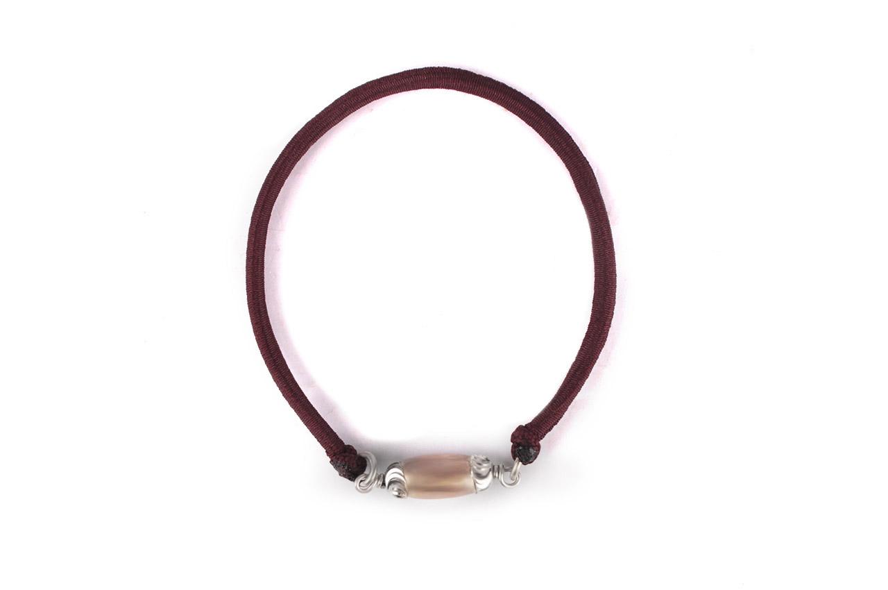 Lingam shape Parad Gutika bracelet with silver capping