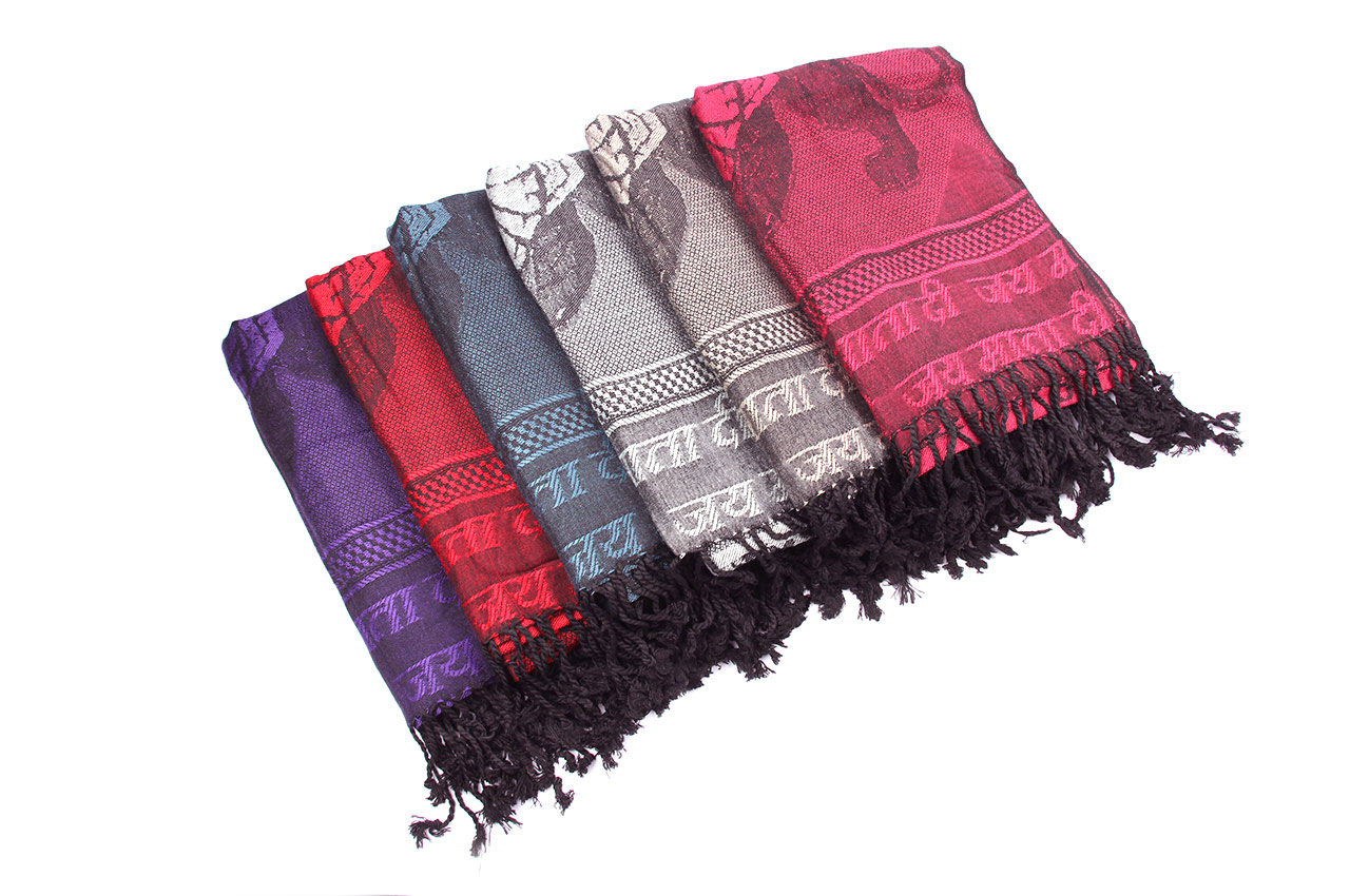 Durga Shawl in Soft Jacquard Fabric