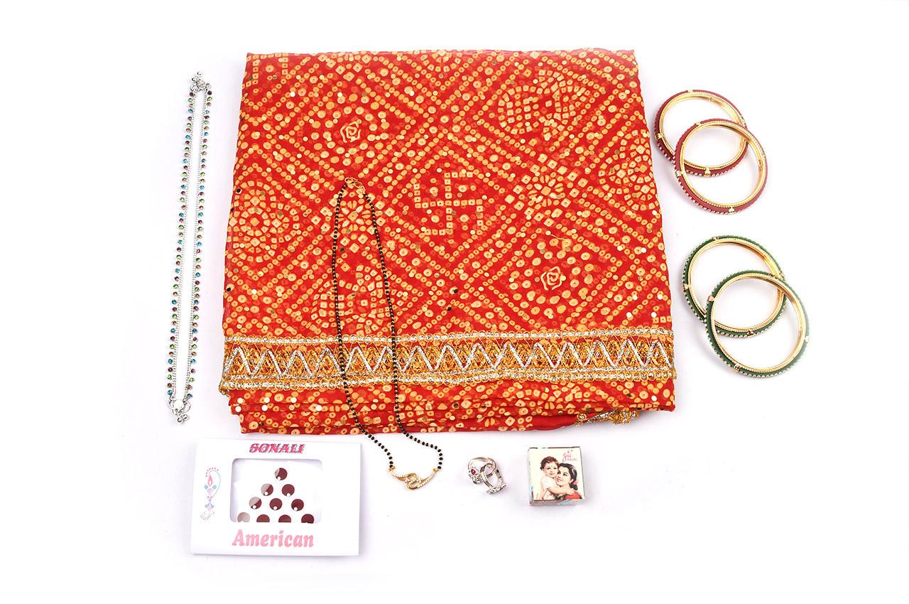 Devi maa shringar kit with Red Saree