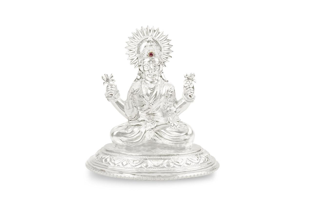 Maha Laxmi in pure silver