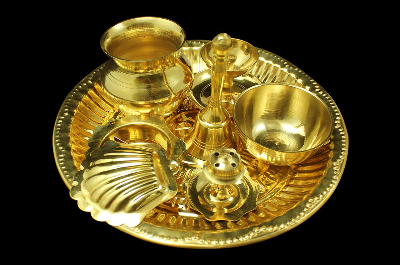 Puja Thali - Brass