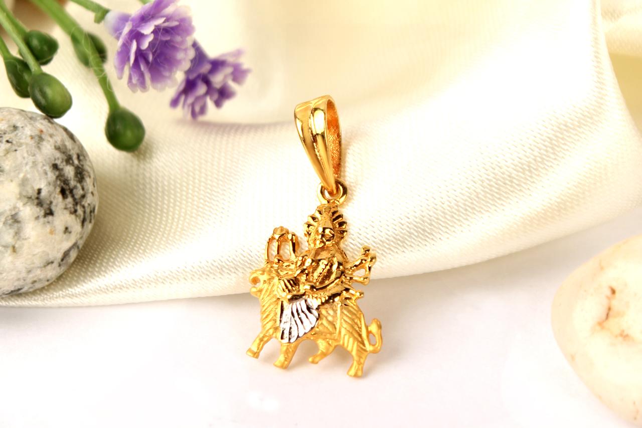 Durga pendant in pure gold 323 gms rudraksha ratna durga pendant in pure gold 323 gms mozeypictures Image collections