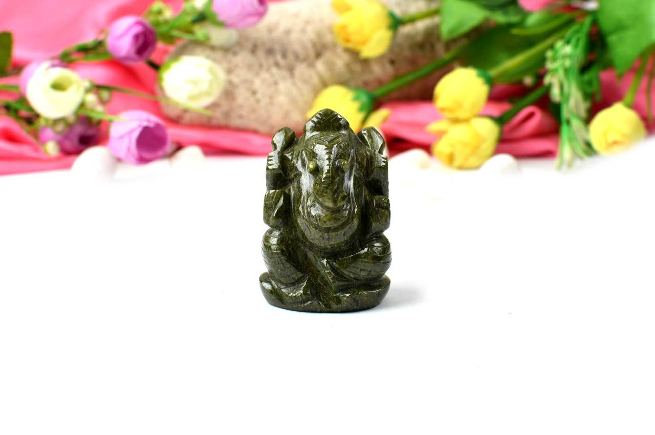 Unakite Ganesha - 135 gms - I