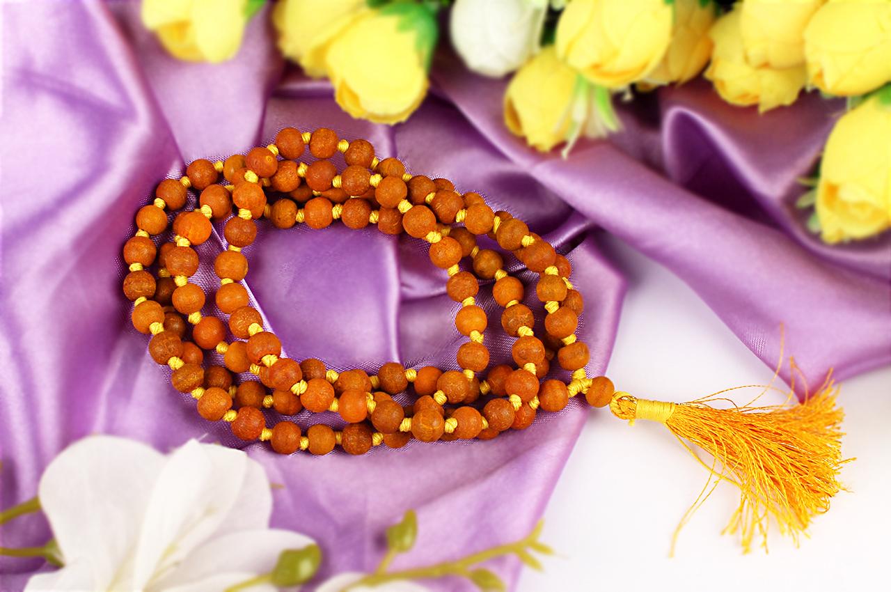 Haldi turmeric beads mala