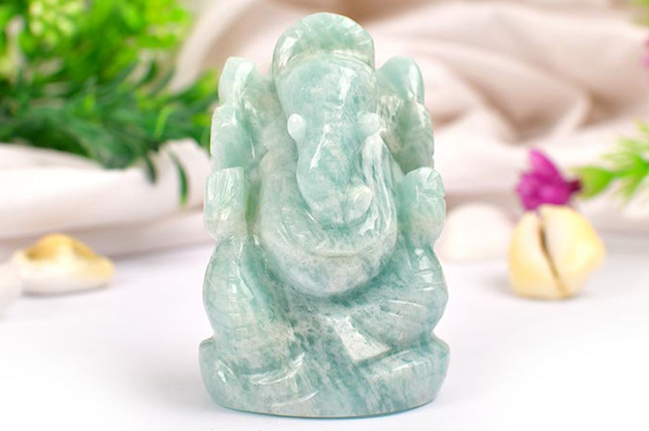 Amazonite Ganesha - 94 gms