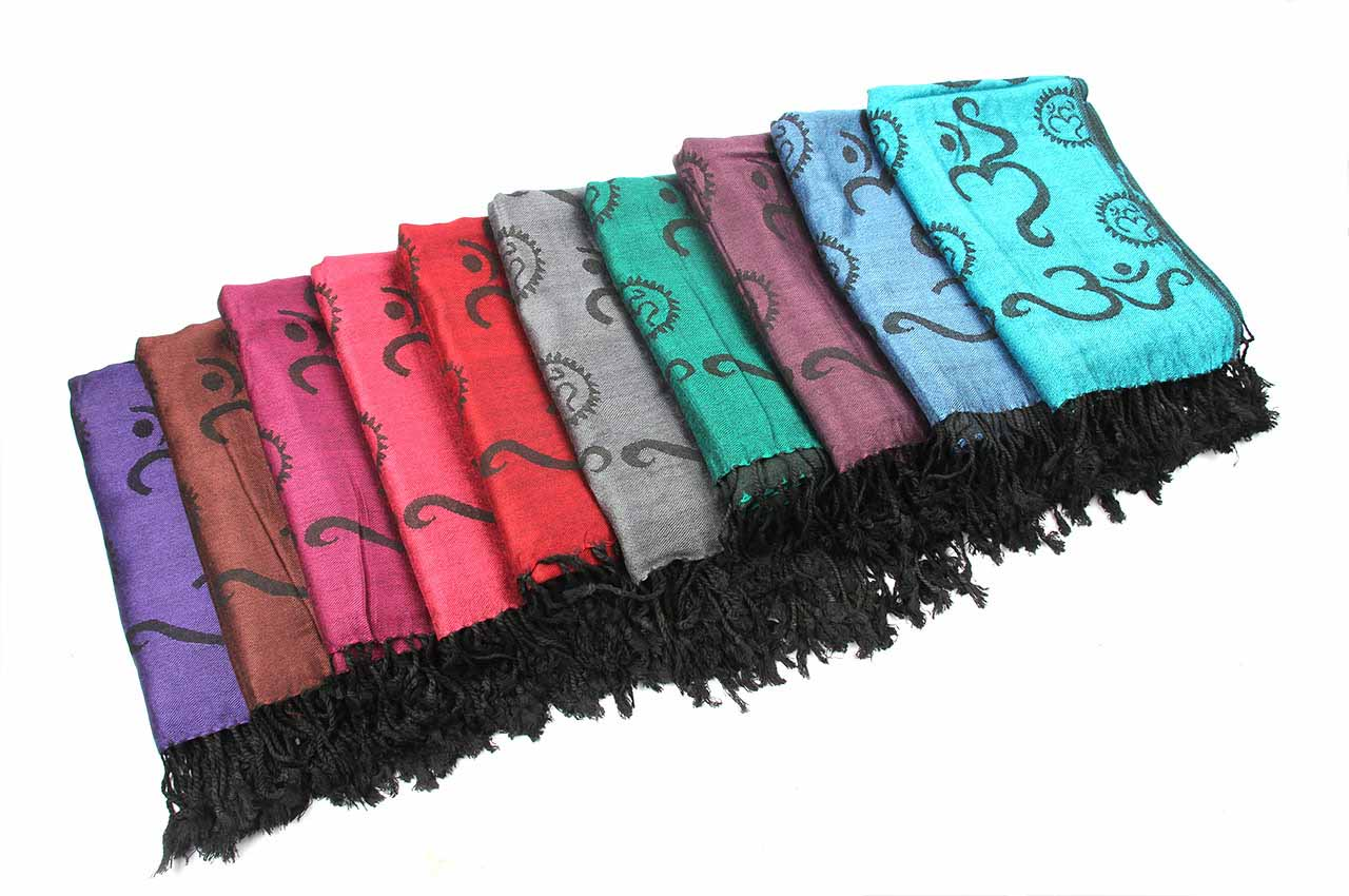 Gayatri Mantra Shawl in Soft Jacquard Fabric