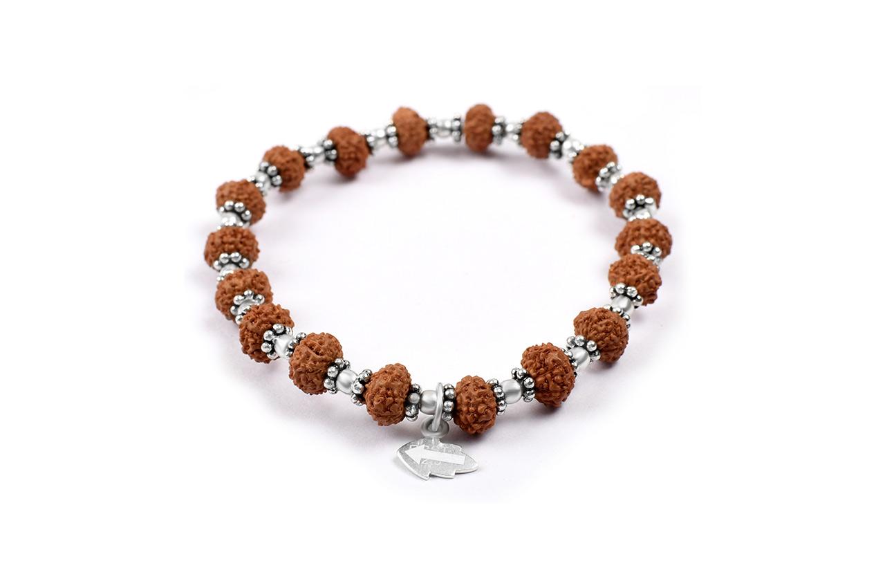 7 mukhi Mahalaxmi bracelet from Java with silver balls and chakri