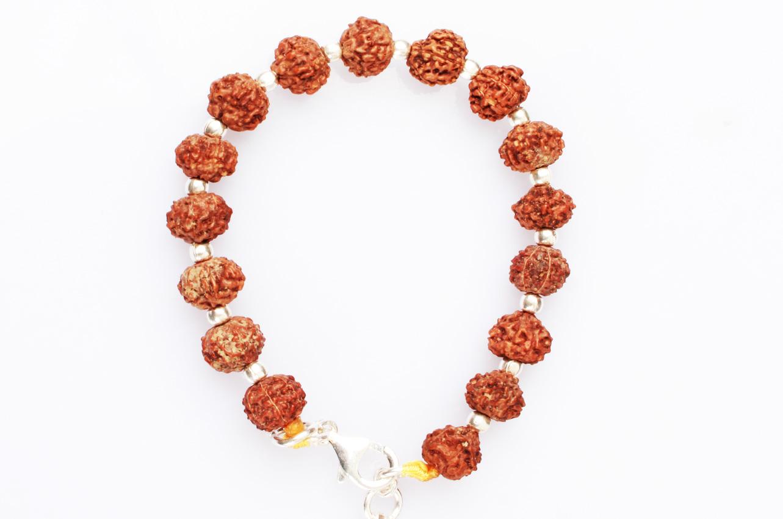7 Mukhi Bracelet in Silver balls