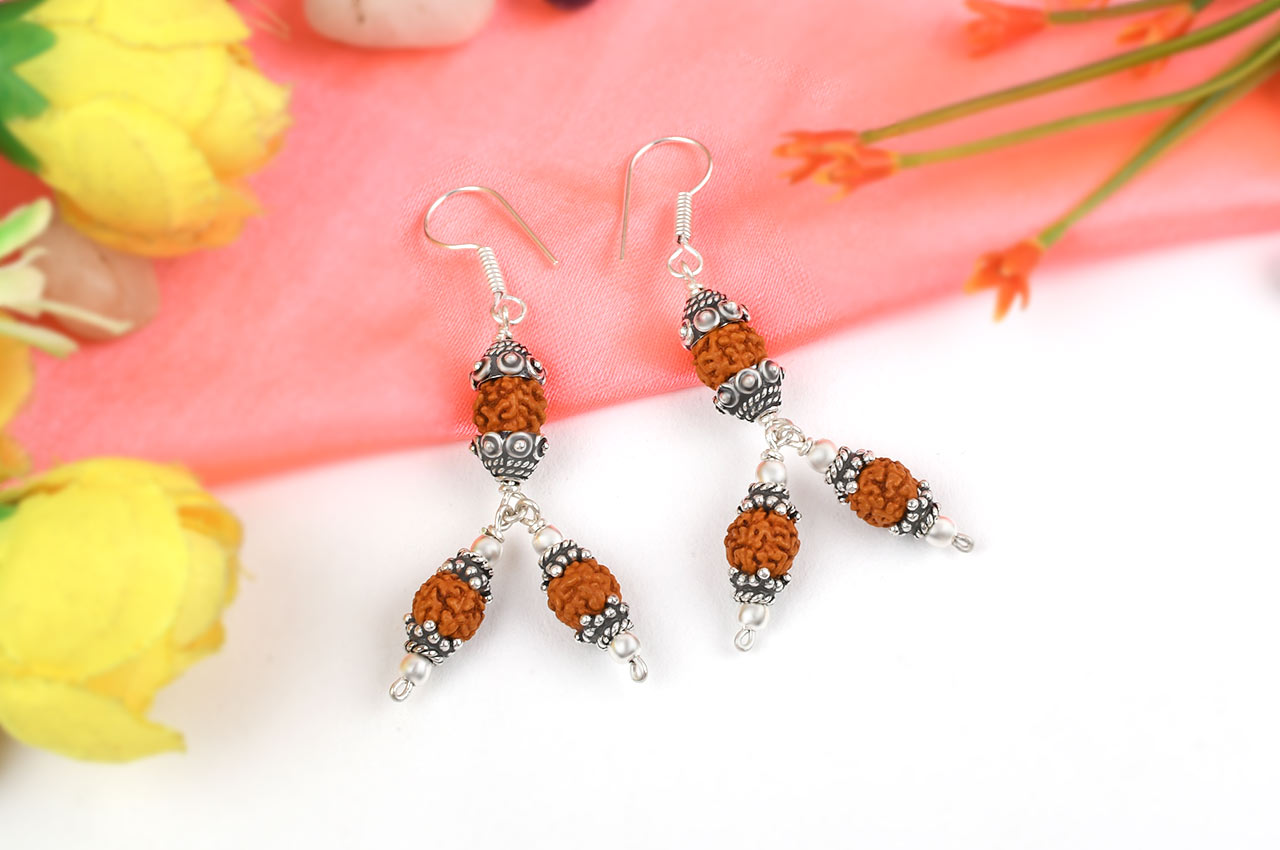 Rudraksha earring - Design III