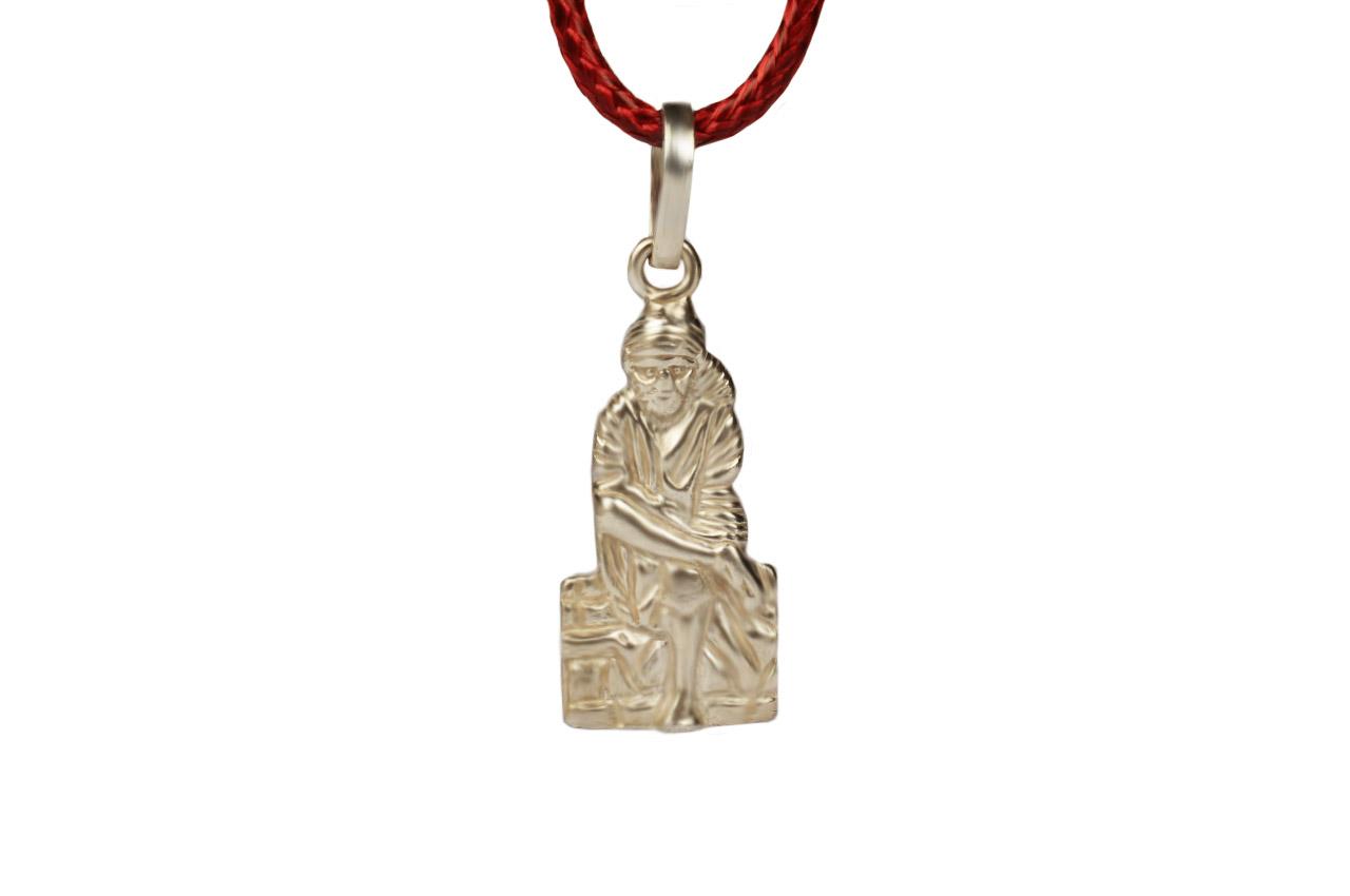 Saibaba Locket in Pure Silver - Design VI