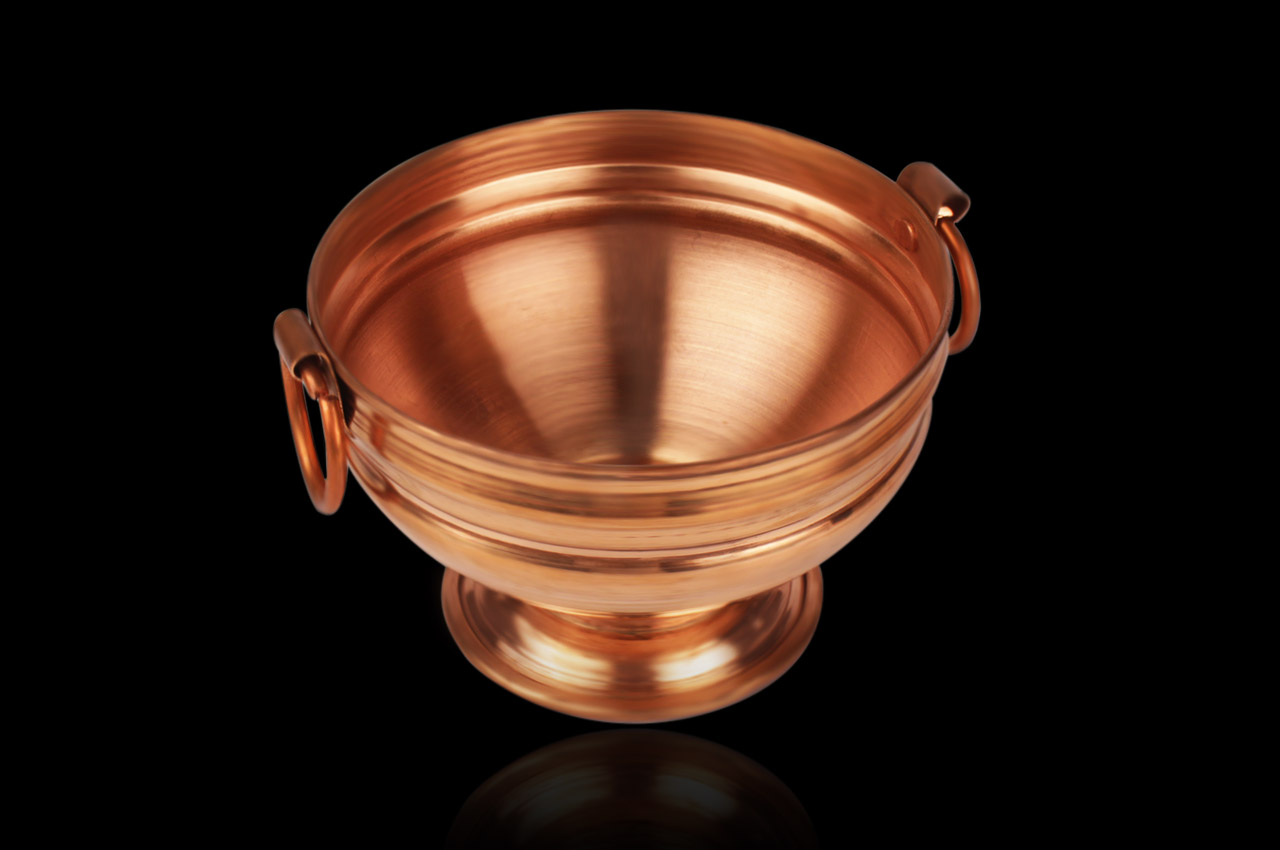 Flower Container in Copper