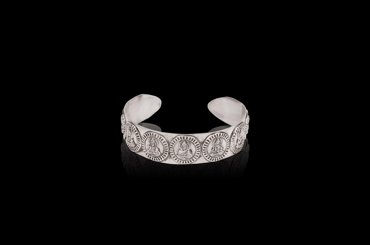 Buddha Bracelet in pure silver