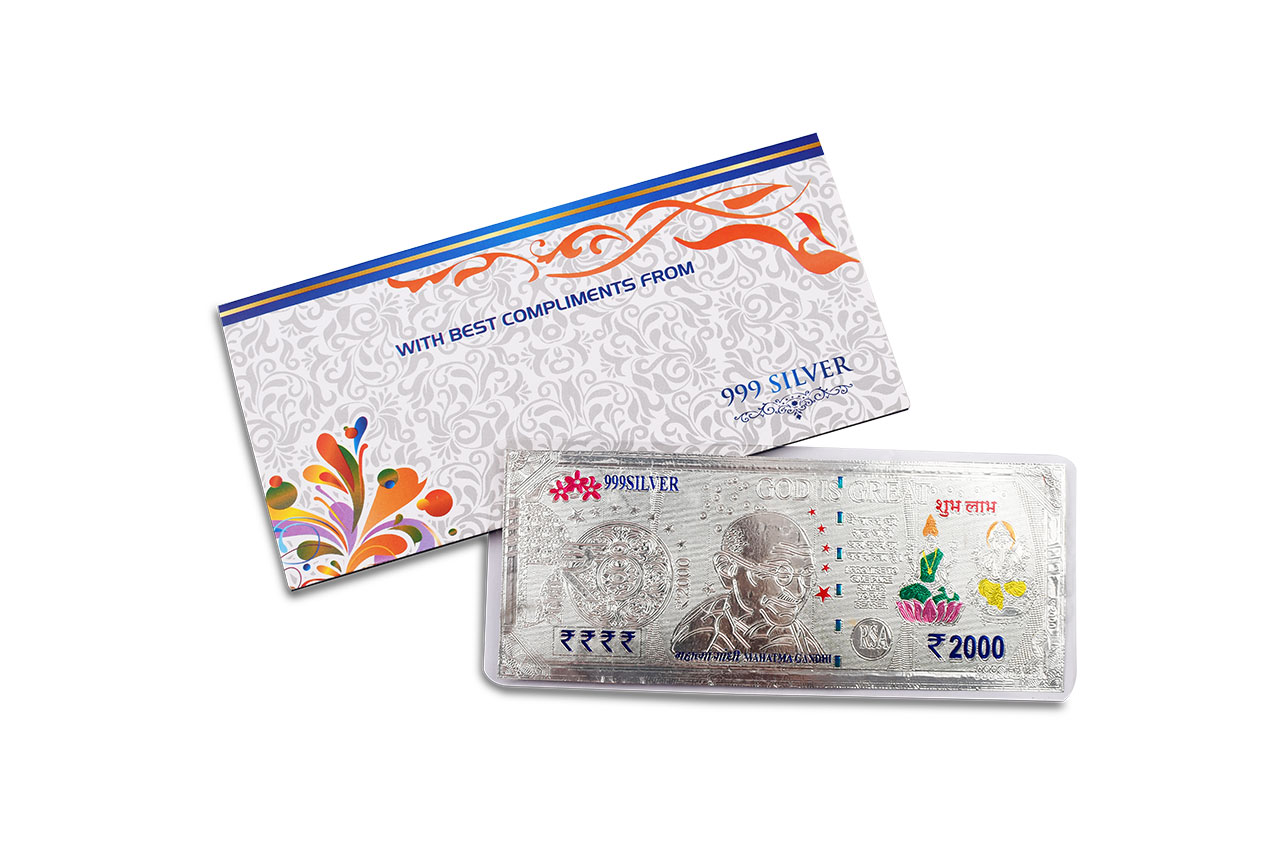 Shubh Labh Currency in Silver