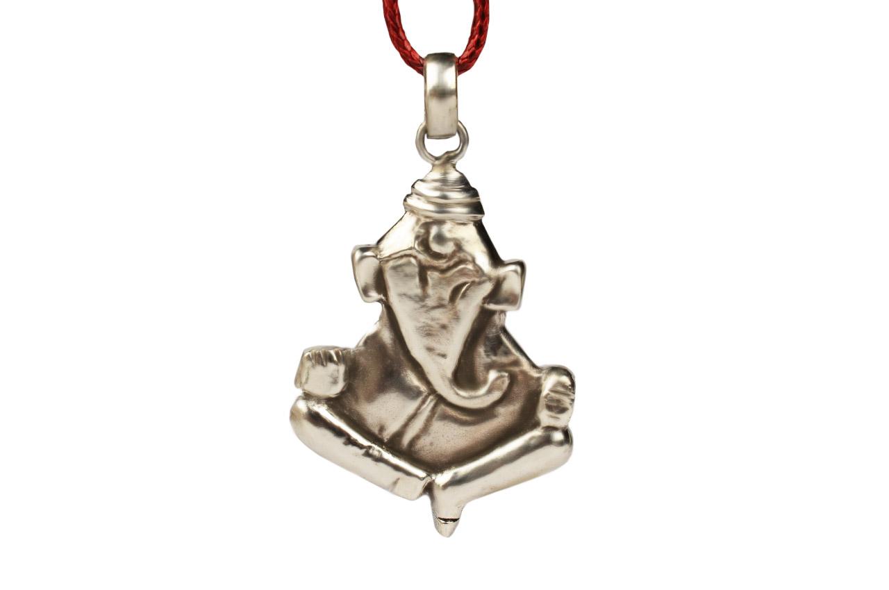 Ganesh Locket in Pure Silver - Design VII