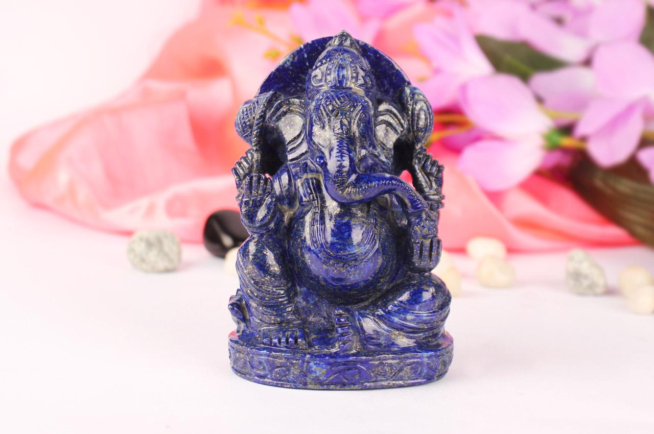 Lapis Lazuli Ganesha - 488 gms