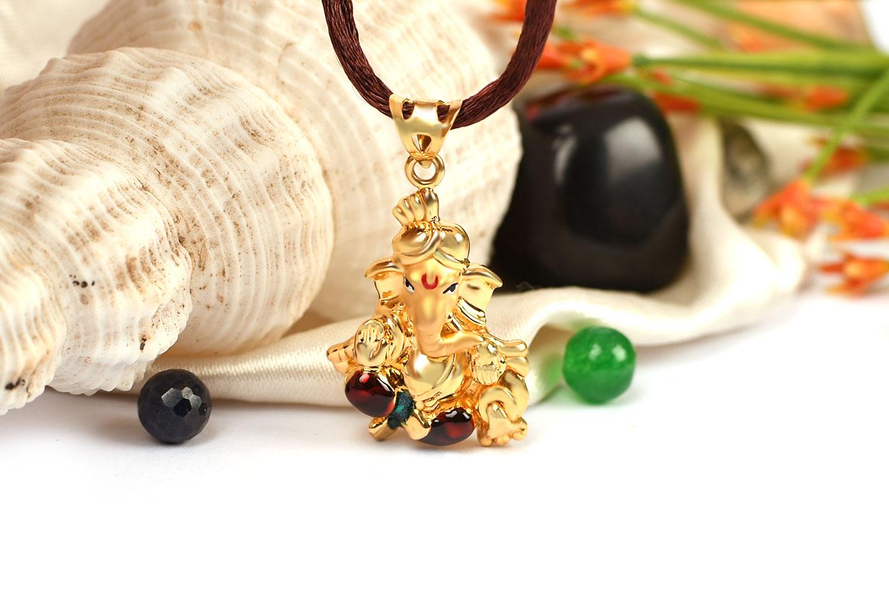 Ganesh Pendant in Gold - 3.05 gms