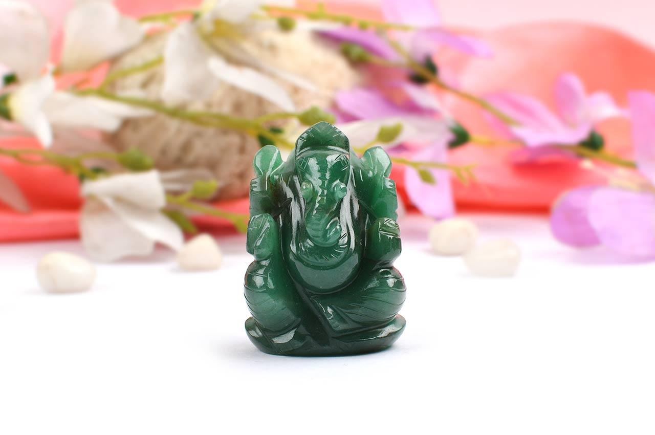 Ganesha in Australian Green Jade - 88 gms
