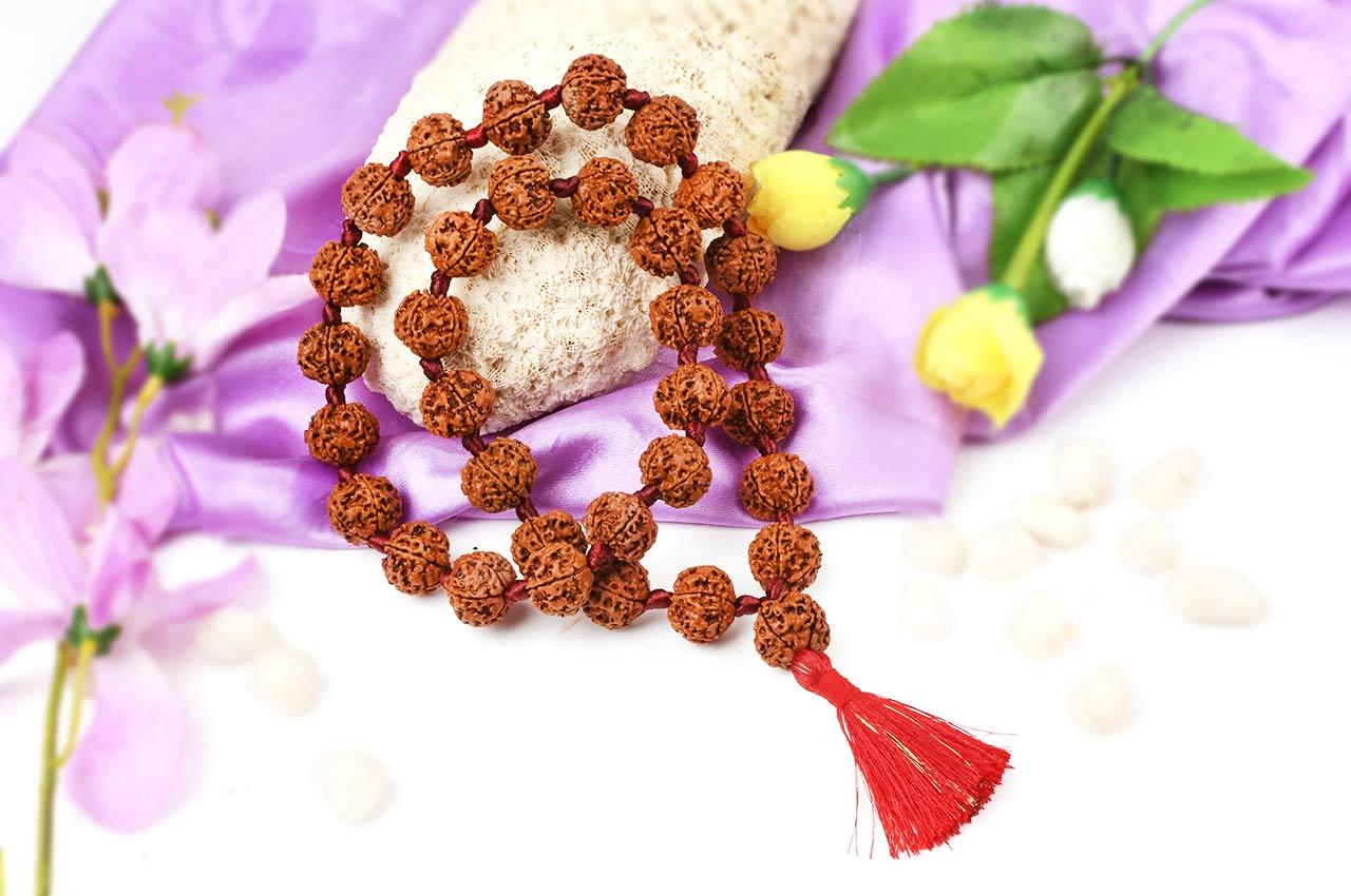 5 Mukhi Nepal Rudraksha beads mala - 18mm