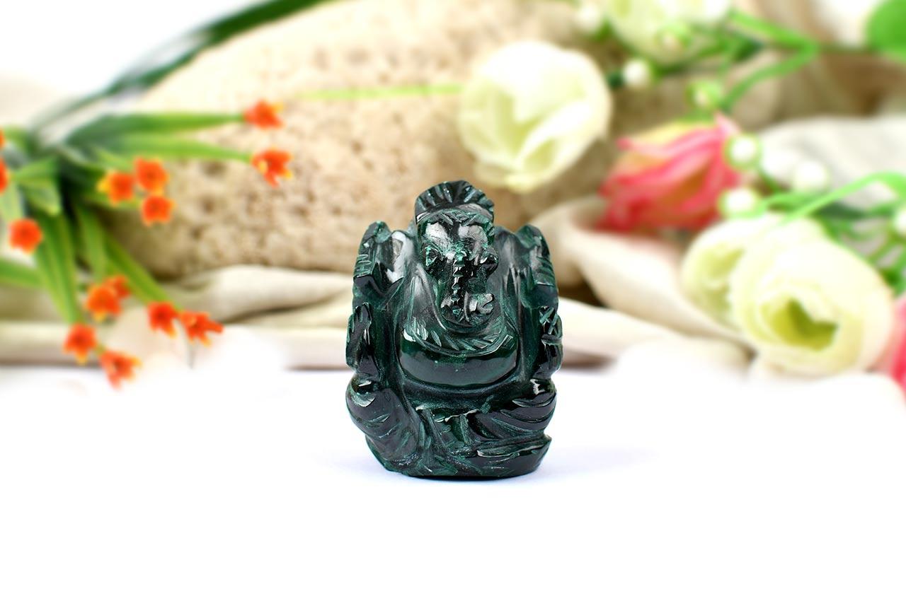 Malachite Ganesha - 85 gms