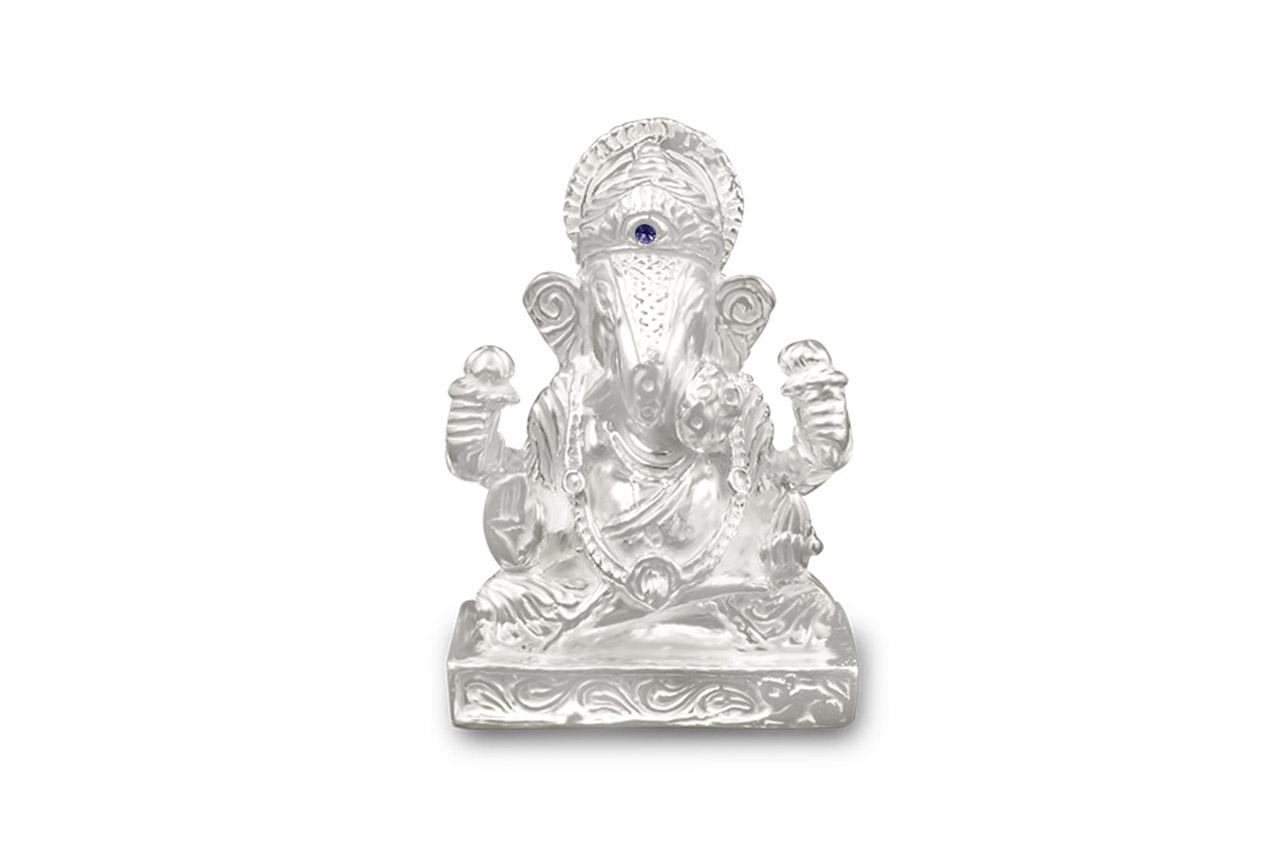 Dagdu Sheth Ganesha in pure silver