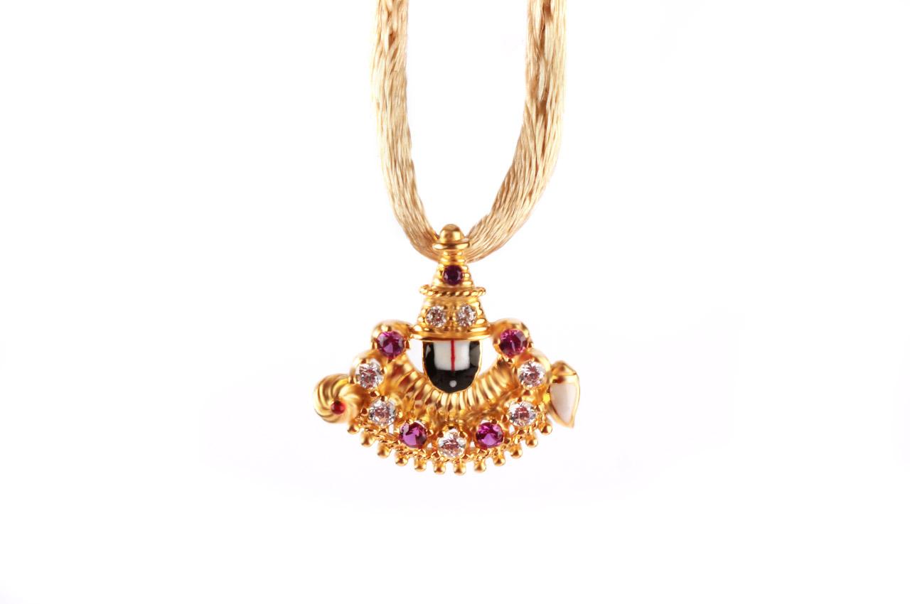 Tirupati Balaji Locket In Gold 3 16 Gms Rudraksha Ratna
