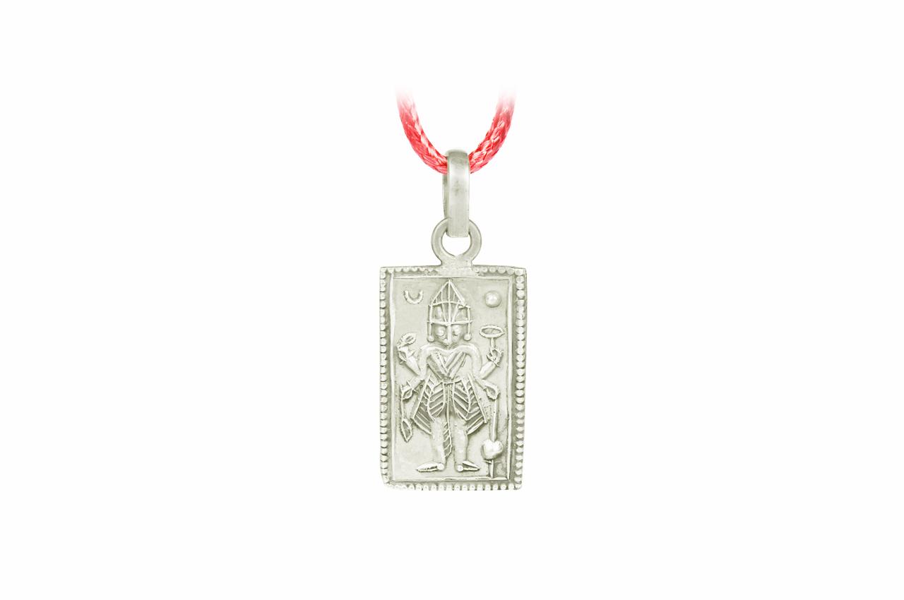 Mahakali Locket in Pure Silver - Design II