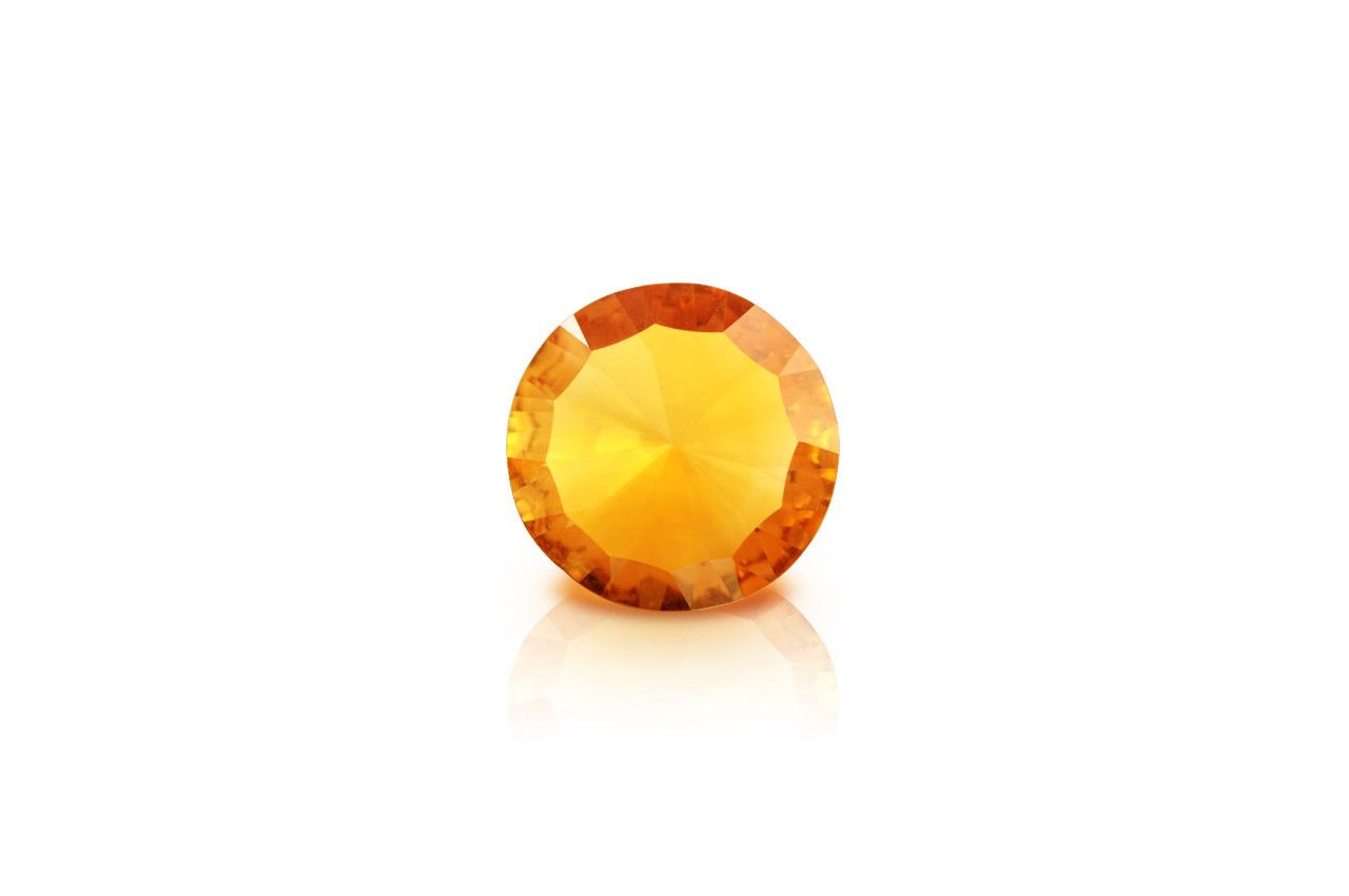 Yellow Citrine Superfine Cutting - 3.25 carats - Round