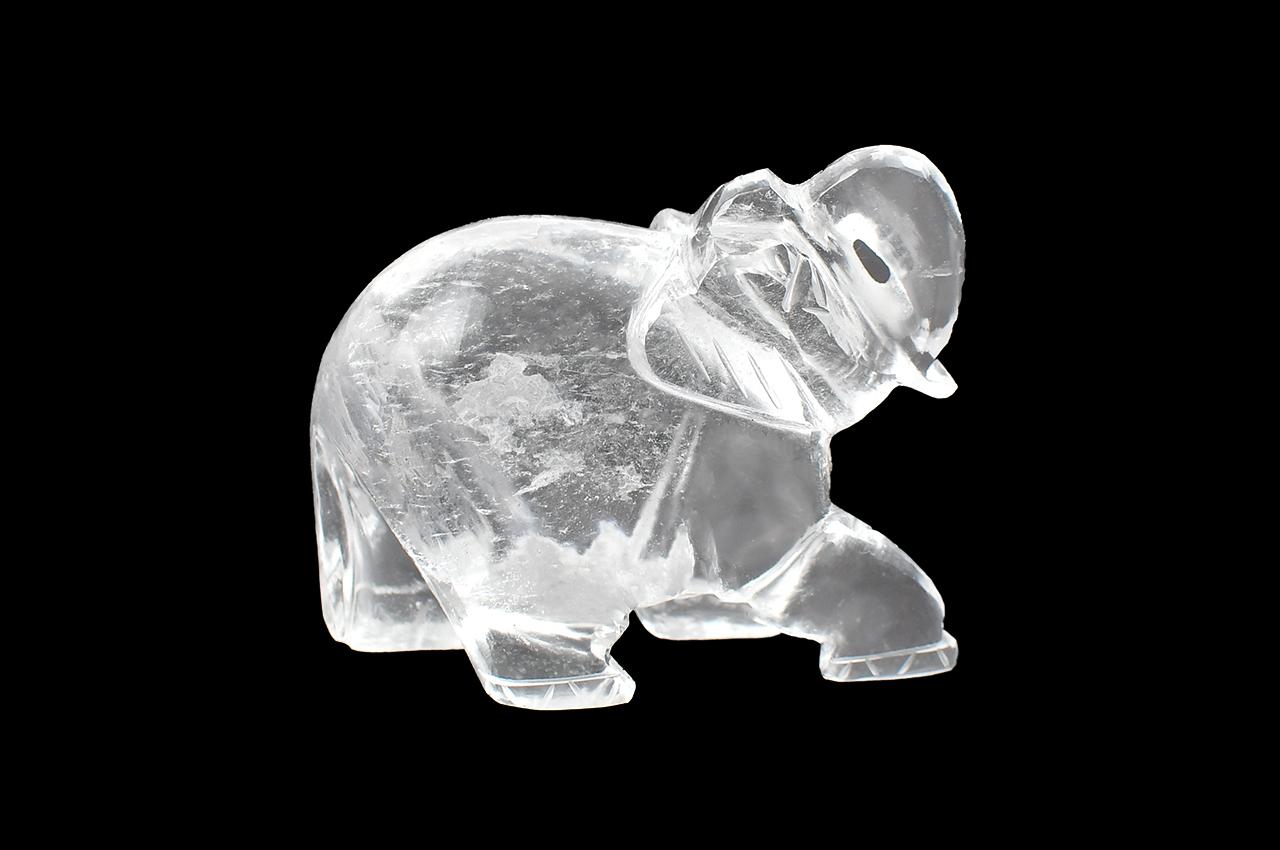 Sphatik Crystal Elephant Idol - I