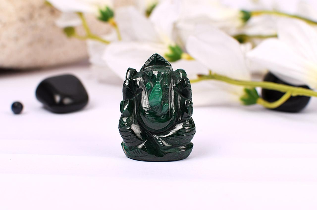 Malachite Ganesha - 53 gms