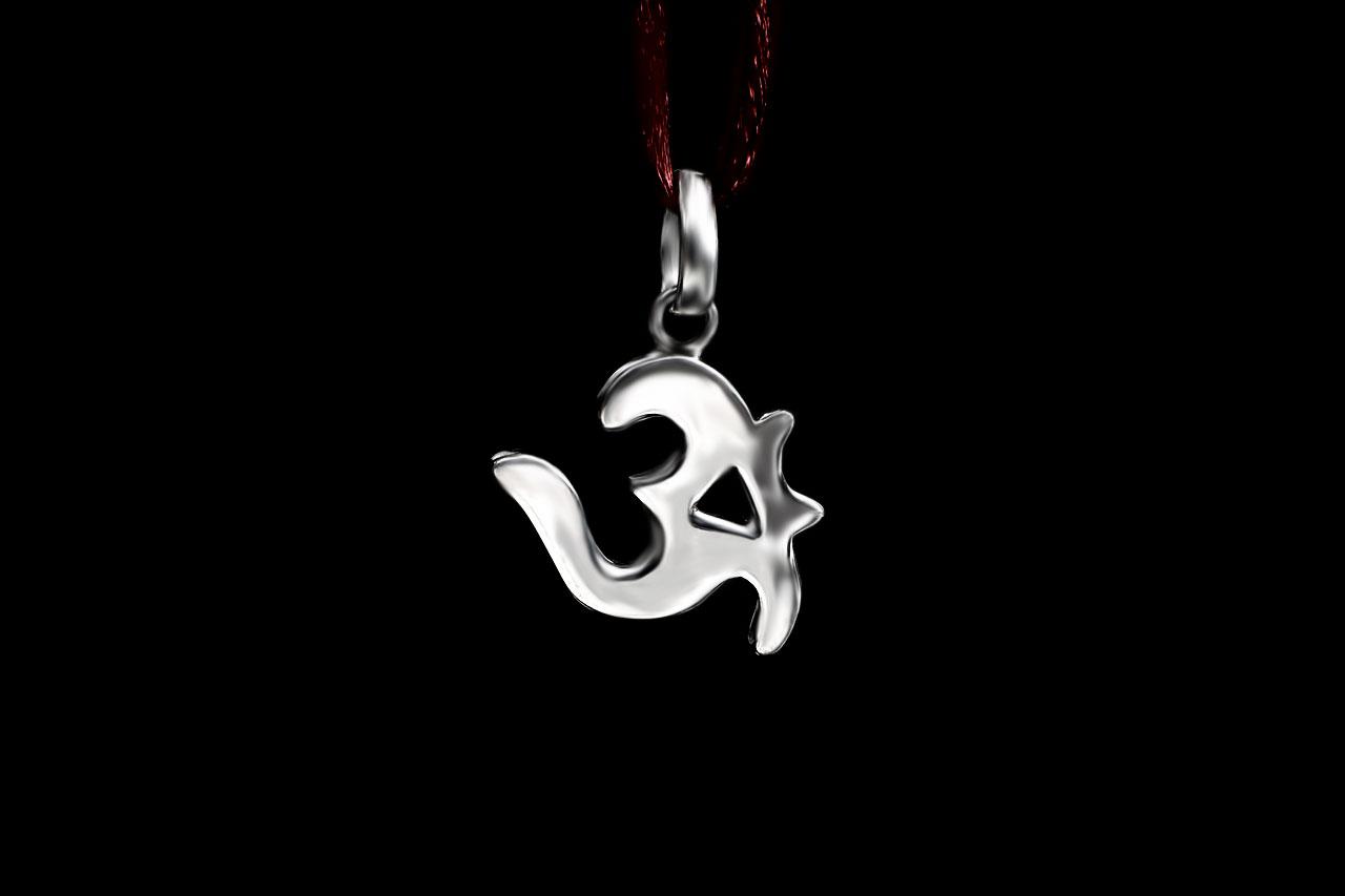 Om Locket in Pure Silver - Design XIII