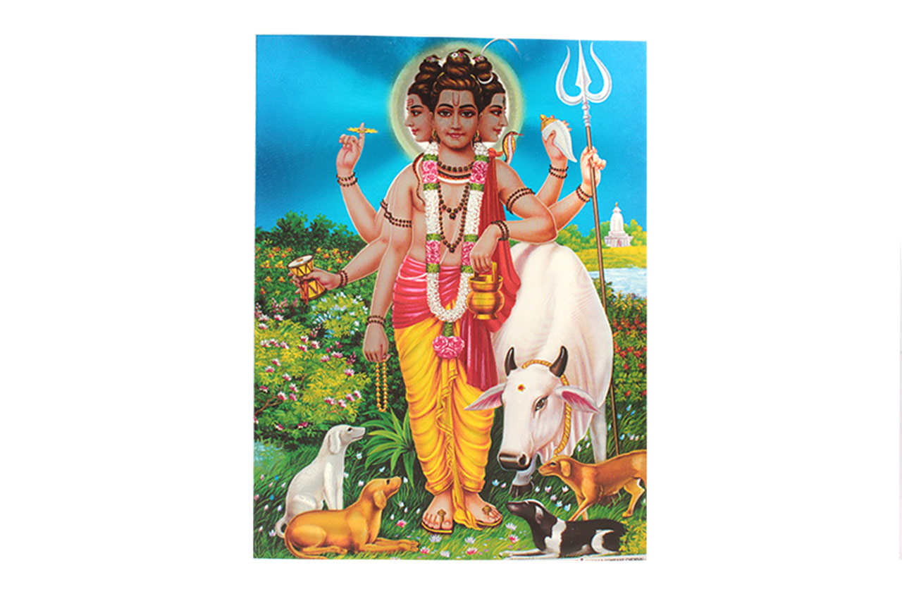 Lord Dattatreya Photo - Large