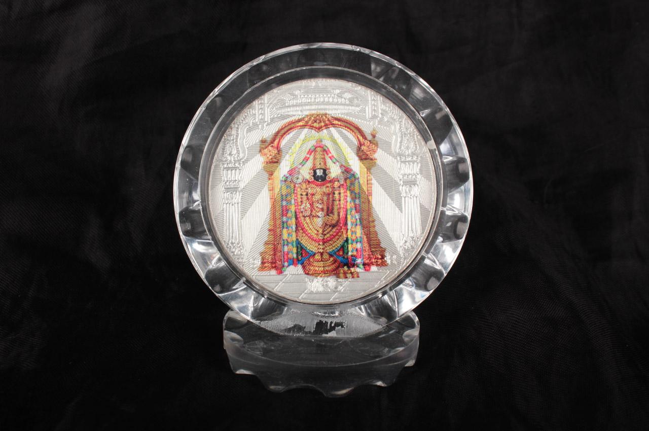 Tirupati Balaji Silver Frame
