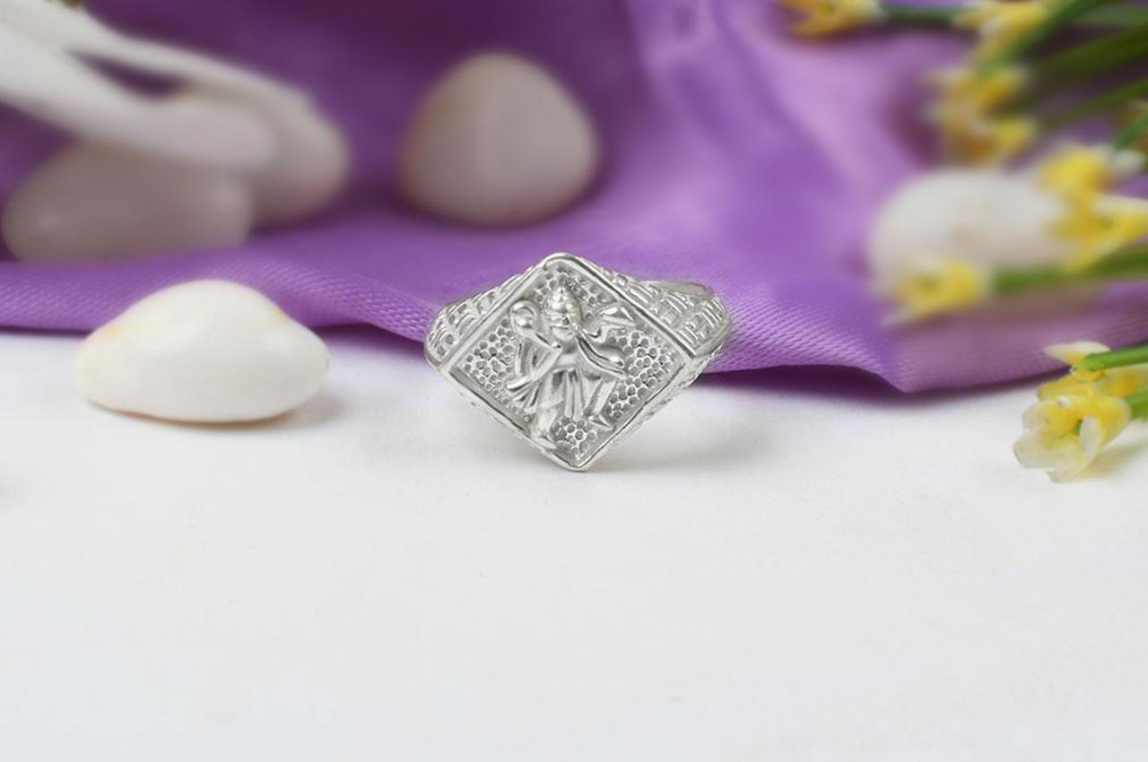 Hanuman Ring in Pure Silver - Design IV