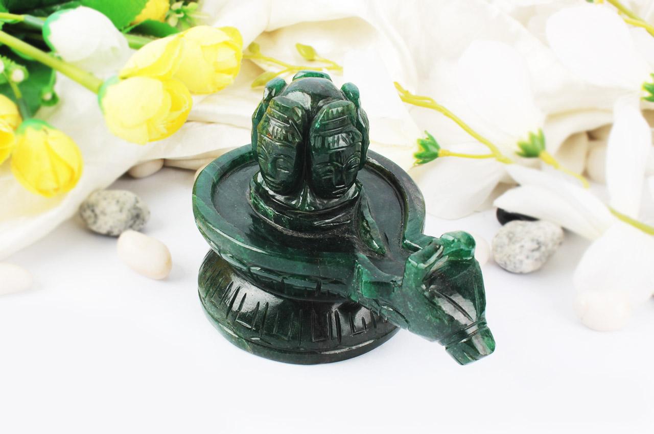 Pashupatinath Shivling in Green Jade