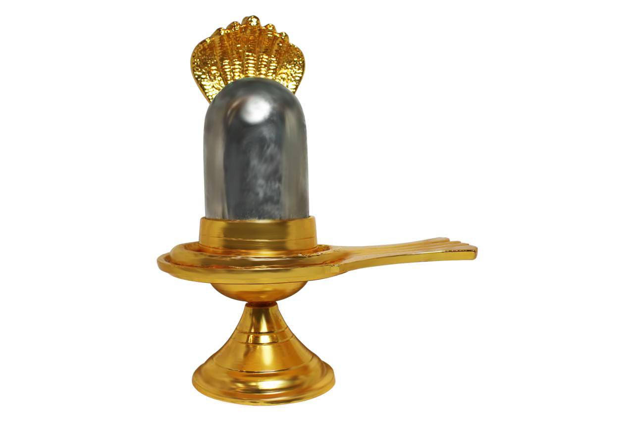 Parad lingam in brass yoni - Large