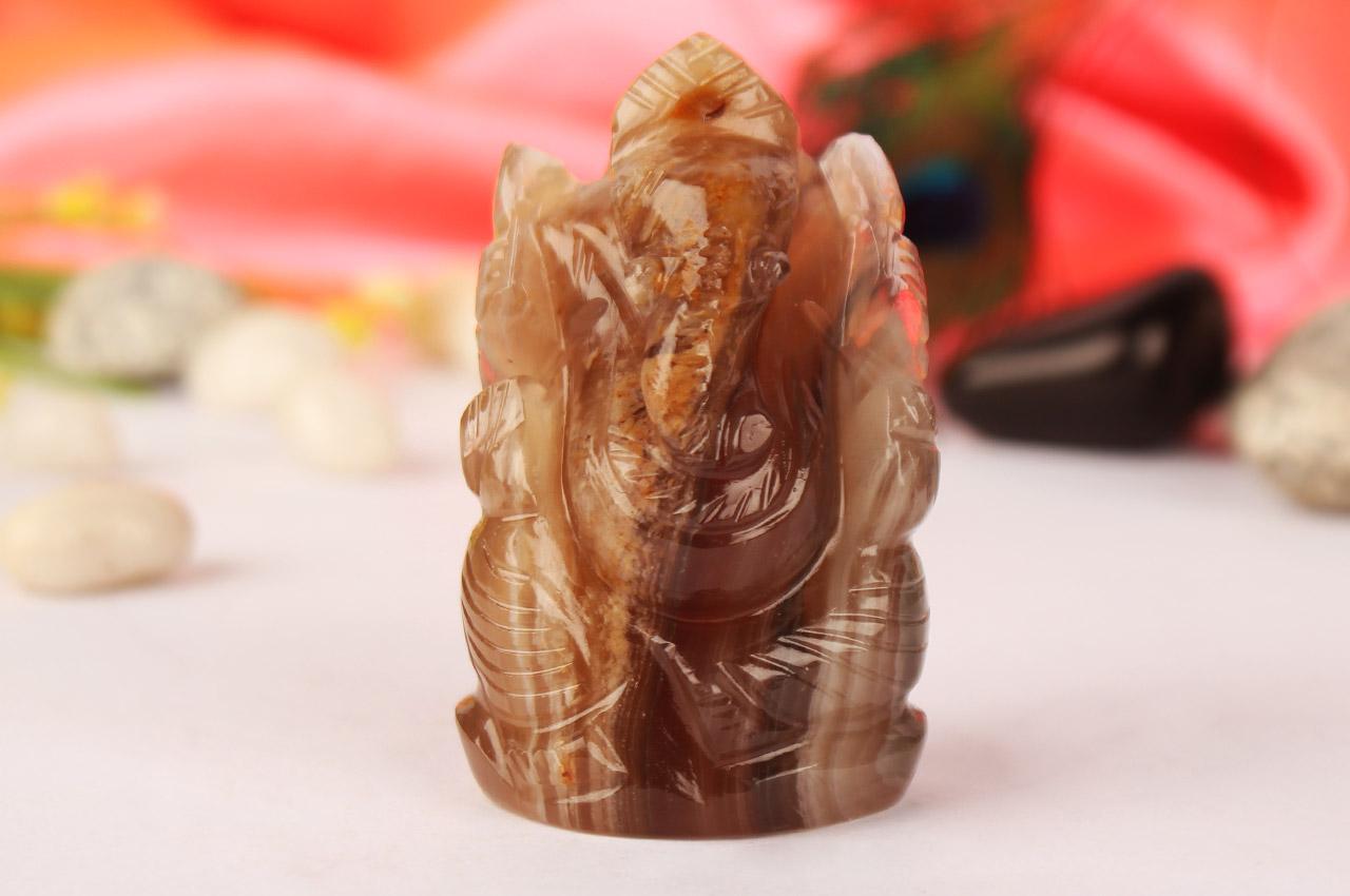 Ganesha in Fluorite - 105 gms