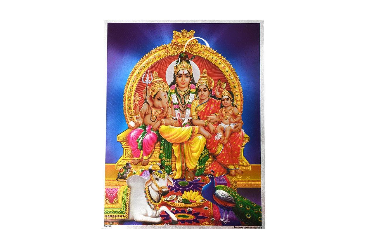 Lord Shiv Parivar Photo - Large - Design II