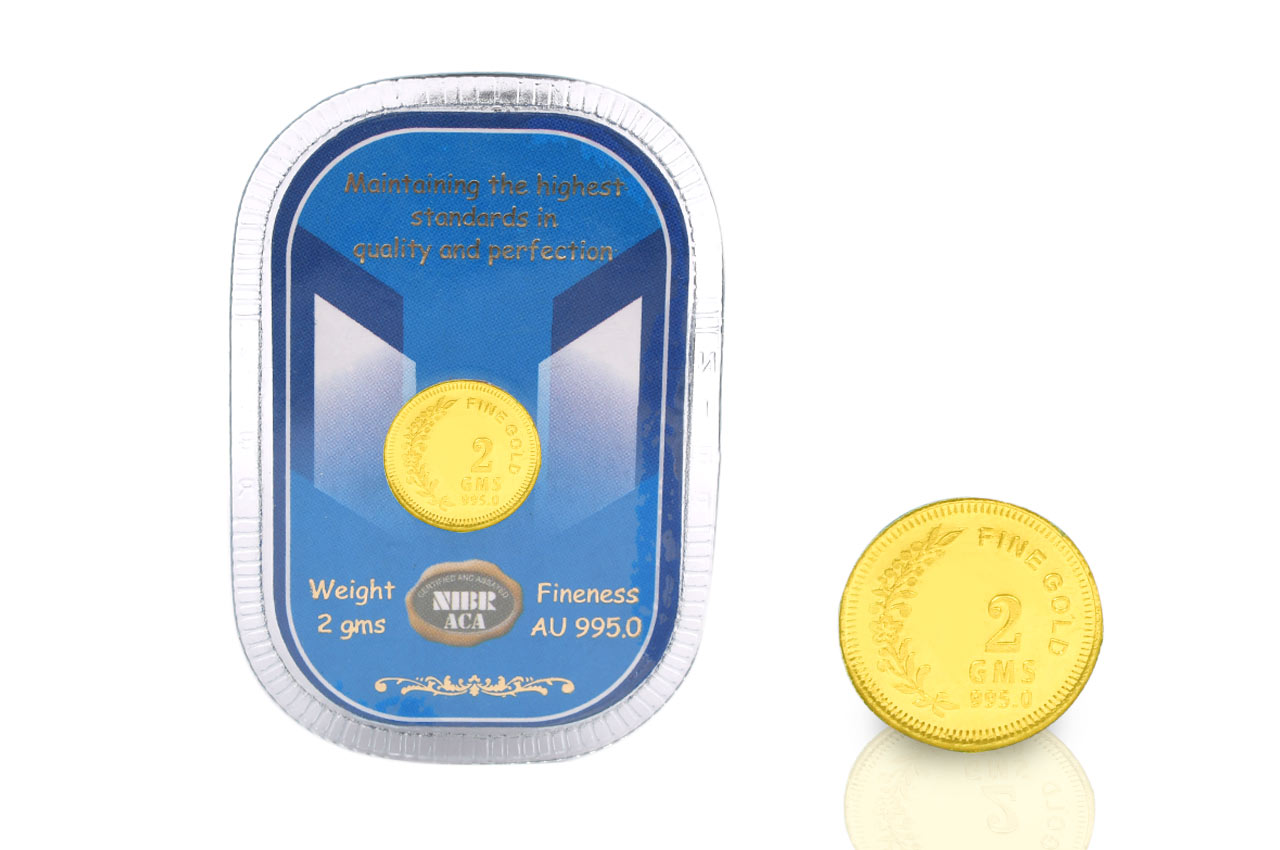 2 gm Pure Gold Coin - 24 carat