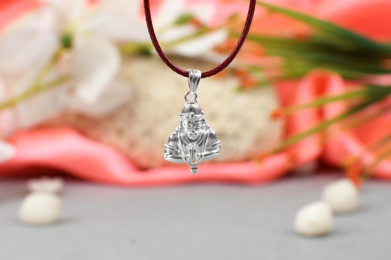 Ram Bhakth Hanuman locket in silver