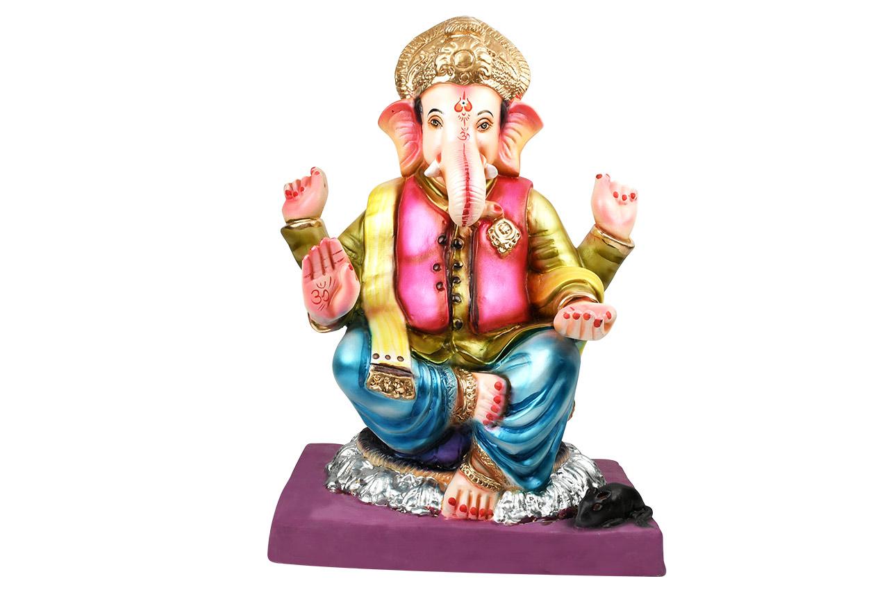 Eco Friendly Ganesha on throne