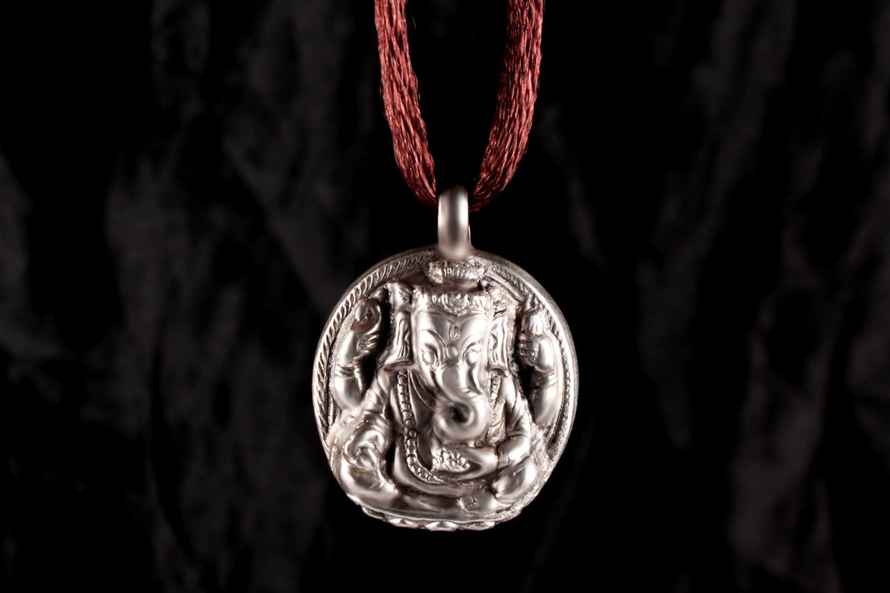 Ganesh Locket in Pure Silver - Design XXXV