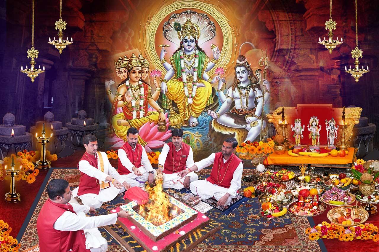Brahma Vishnu Mahesh Trimurti Puja