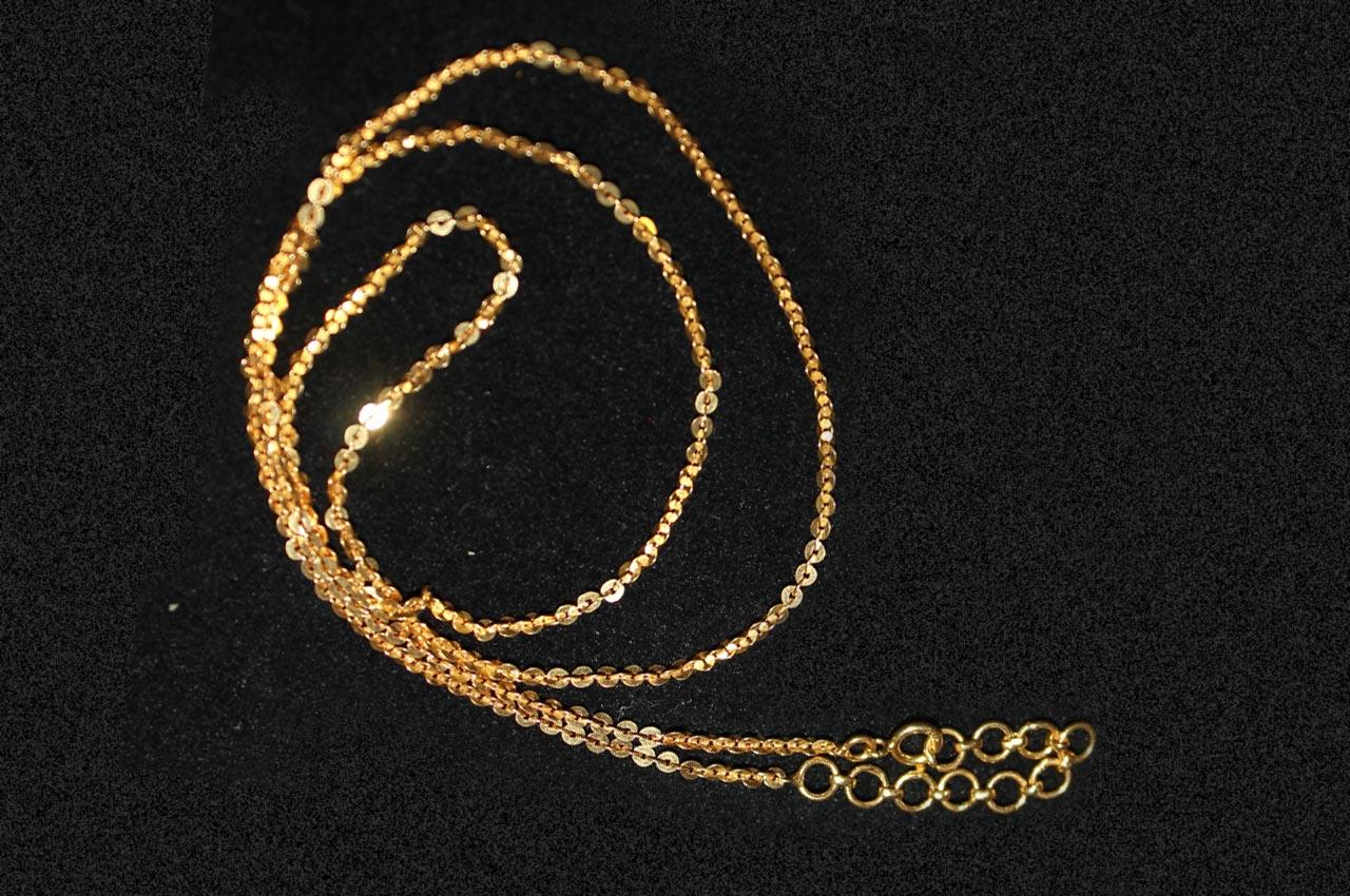 gold chain link chain design rudraksha ratna