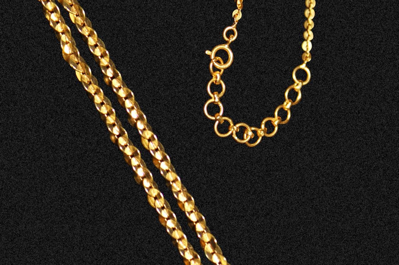 Gold Chain - link chain design - Rudraksha Ratna