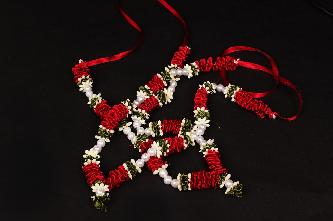 Deity bead Garlands - Set of 2 - Design XIII