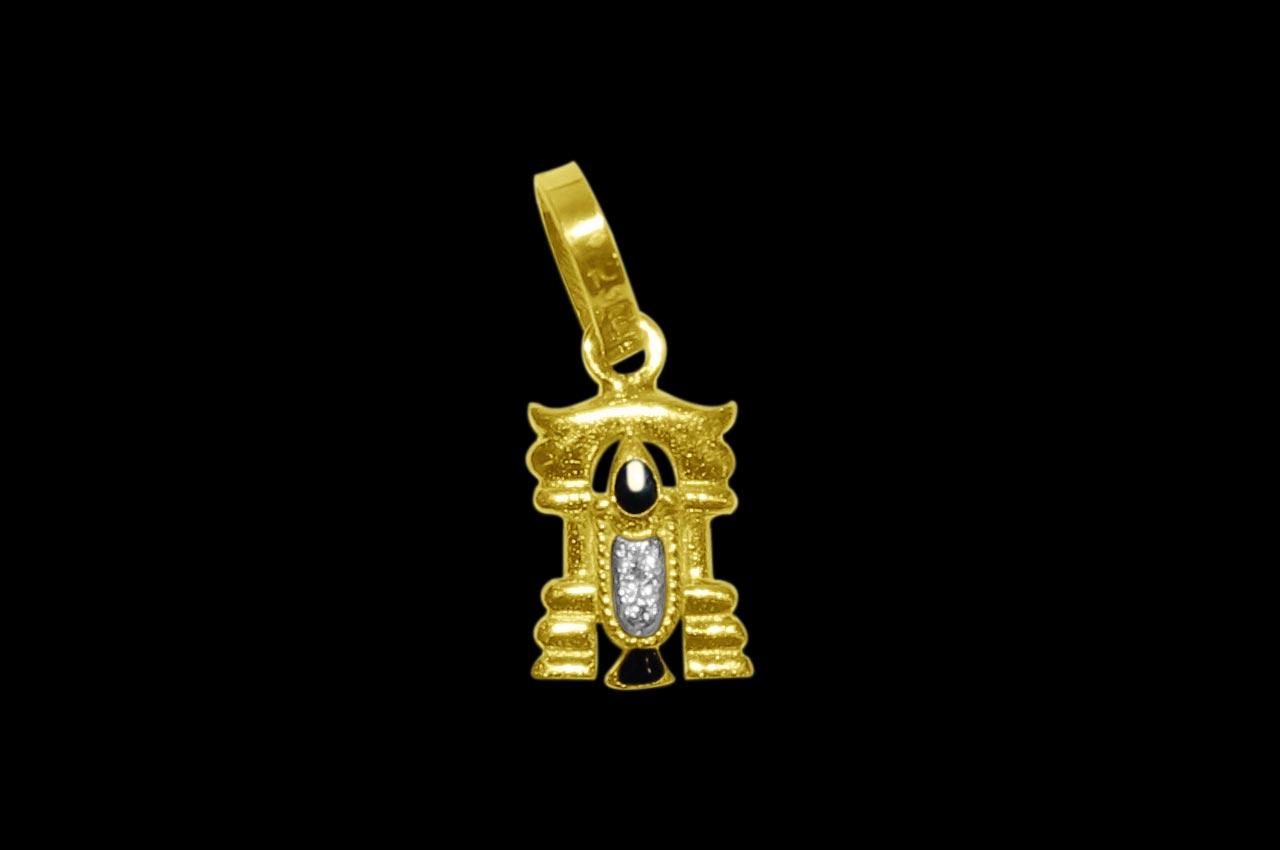Tirupati Balaji Locket in Pure Gold - Design VI