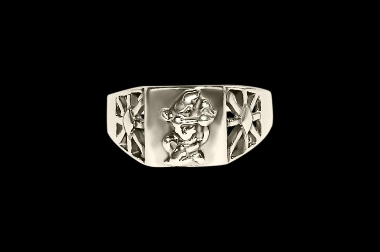 Hanuman Ring in Pure Silver - Design III