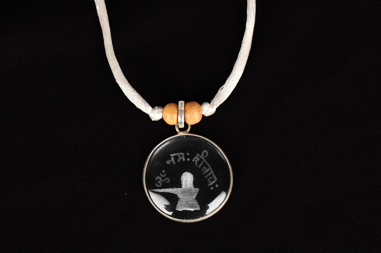 crystal om namah shivaya locket rudraksha ratna